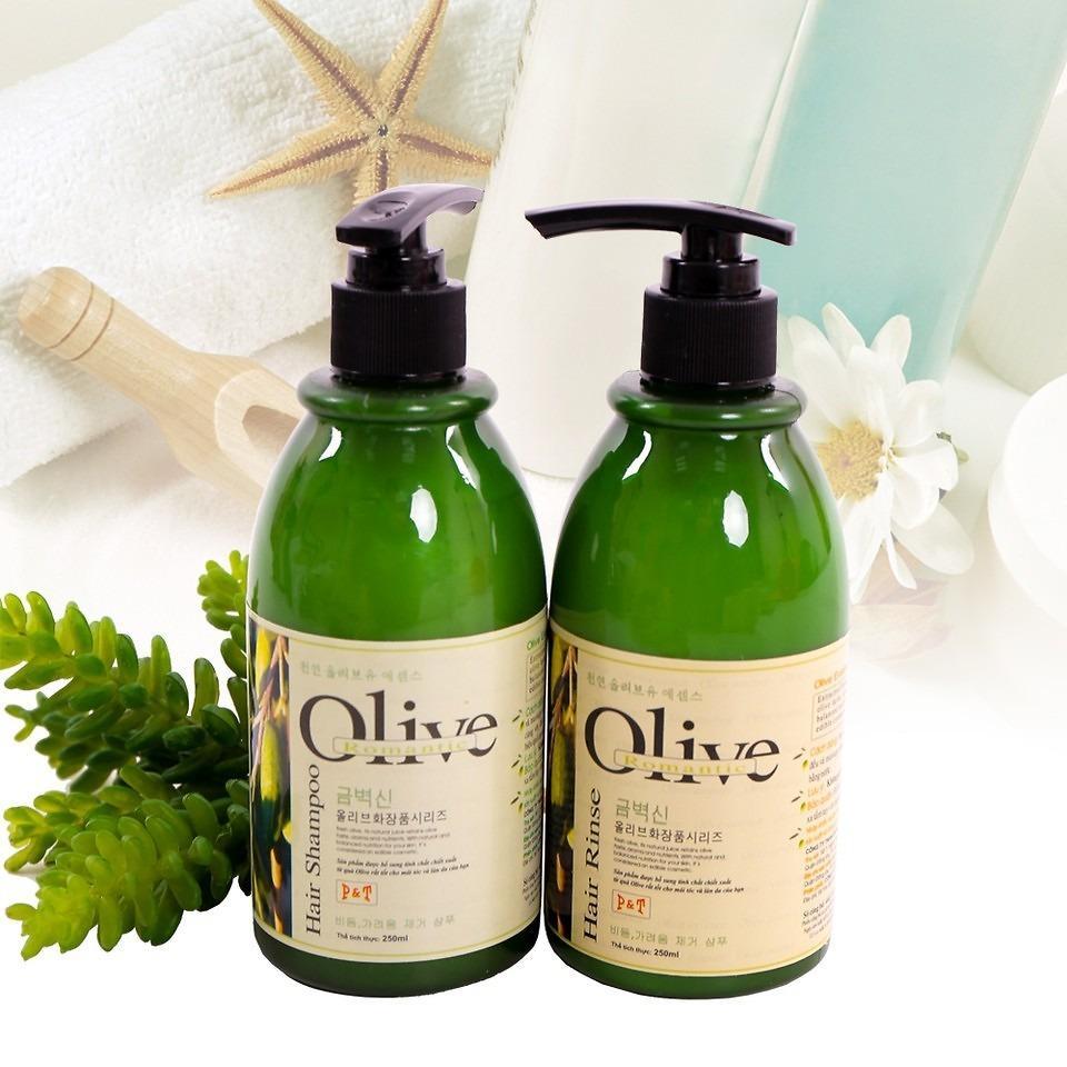 Bộ dầu gội và dầu xả Olive 250ml cho tóc óng mượt
