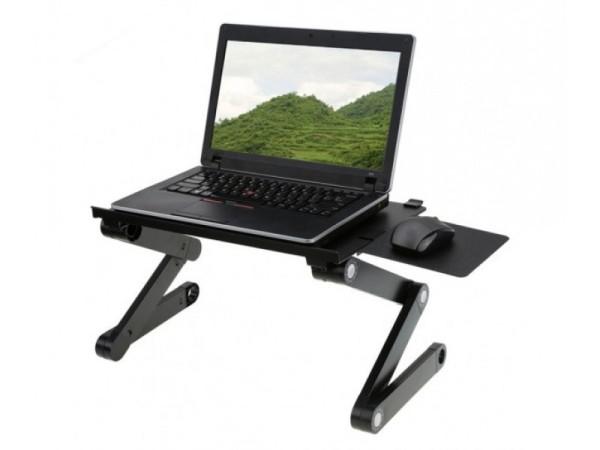 Bảng giá [ CHẮC CHẮN ] Bàn gấp để laptop tùy chỉnh 360 độ T6 -  Bàn kê laptop 3 chân đa năng -Bàn để laptop đa năng cao cấp có tản nhiệt, bàn laptop, bàn kê laptop Phong Vũ