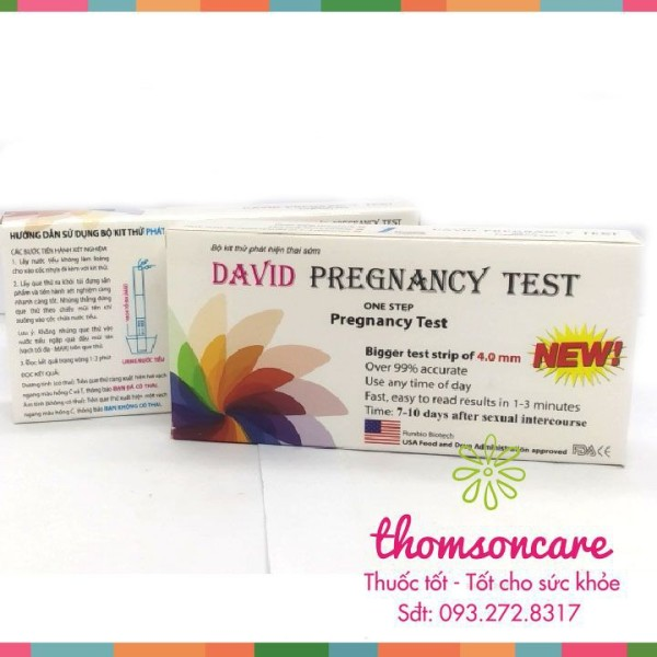 Que thử thai David Pregnancy Test phát hiện thai sớm - Che tên sản phẩm cao cấp