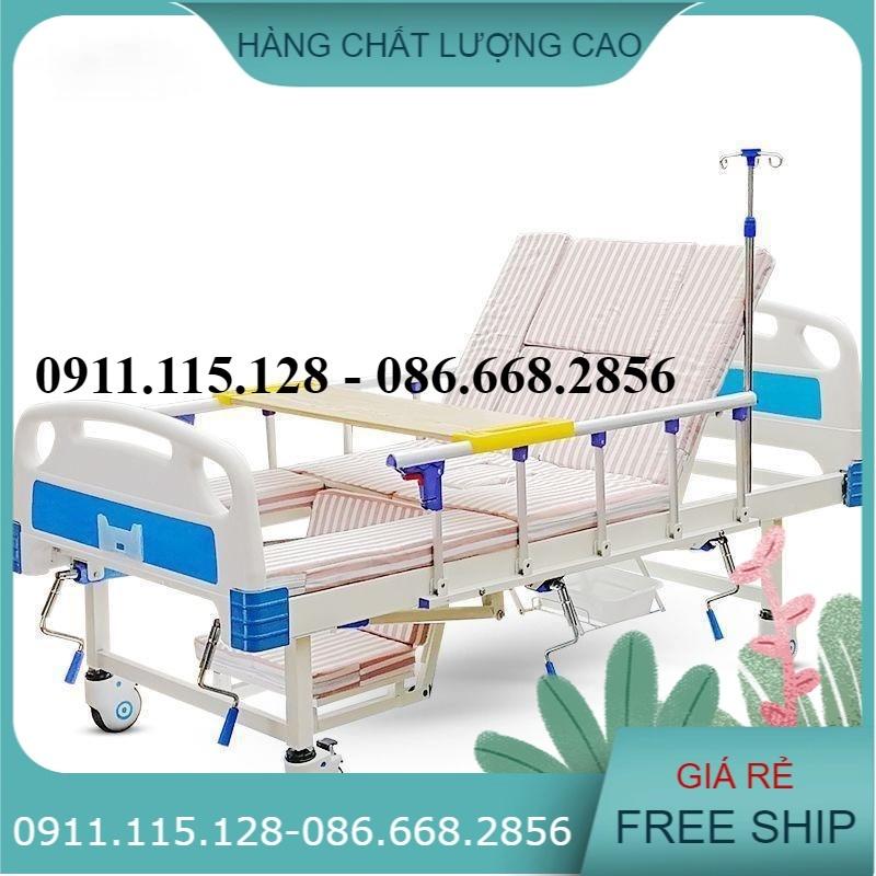 Giường Nằm Bệnh Viện Đa Chức Năng 4 Tay Quay Hạ Chân Trong HL2 ( GIÁ 7.900.000đ)
