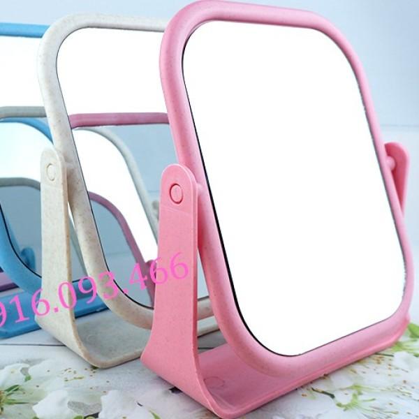 Gương để bàn, Gương trang điểm,Gương 2 mặt nhiều màu sắc, hàng chất lượng, giá rẻ giá rẻ