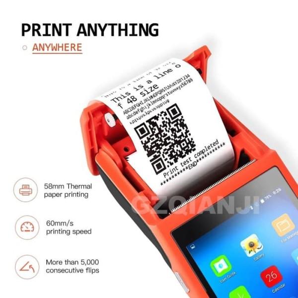 Bảng giá Máy in nhiệt POS Q2  kèm màn hình cảm ứng Chạy HĐH andoind Sử dụng để in bill / Biên nhận thanh toán Phong Vũ