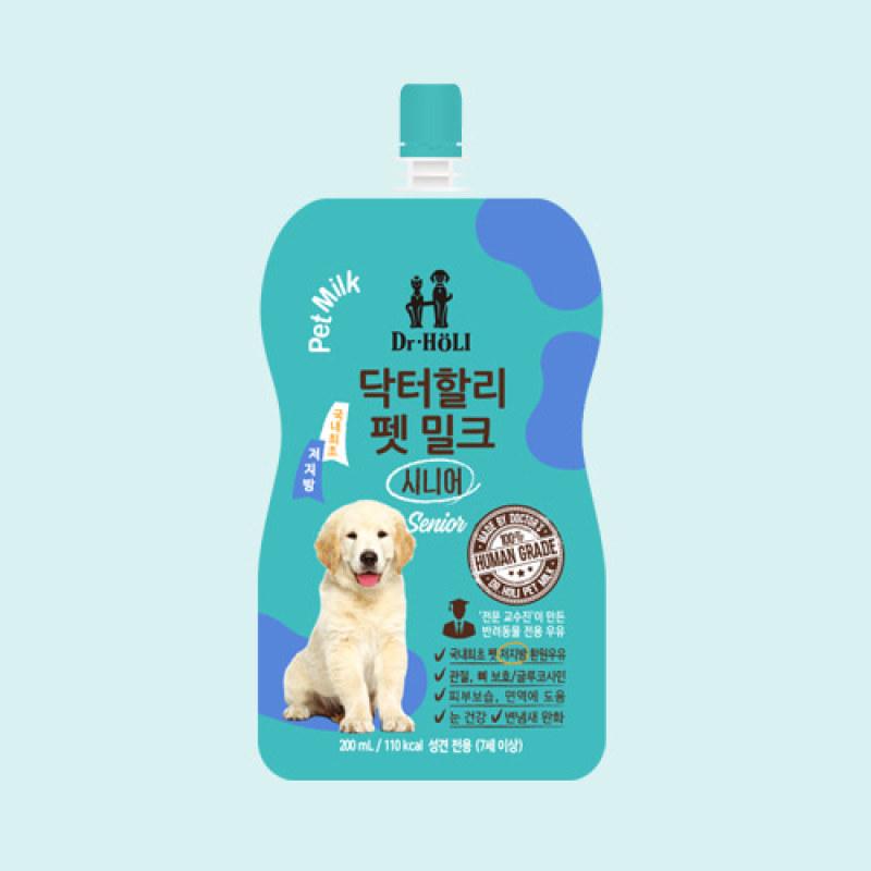 Dr.HOLI Pet Milk Senior - Sữa tươi uống dành cho chó lớn 200ml
