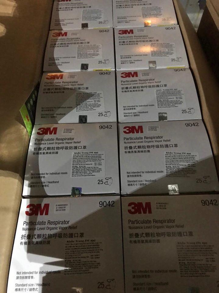 [SẴN HÀNG] Khẩu Trang Than Hoạt Tính 3M 9041 - 9042 nhập khẩu