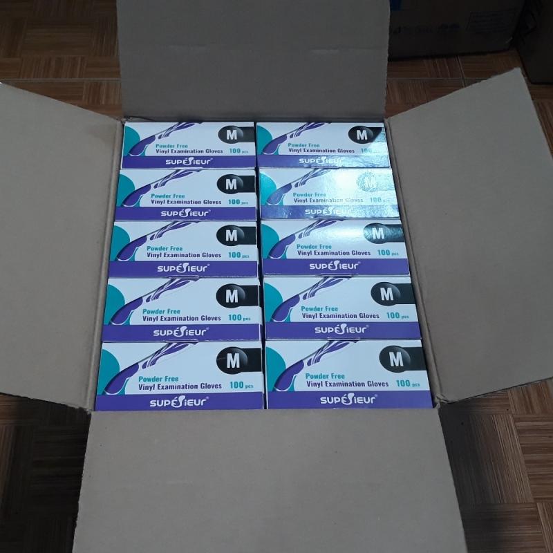 Găng tay cao cấp Vinyl SUPERIEUR không bột hộp 100 chiếc