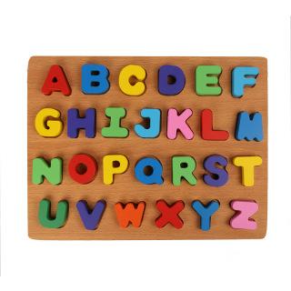 Đồ chơi gỗ cho bé FUHA, bảng ghép chữ cái tiếng việt bảng ghép số và phép tính thumbnail