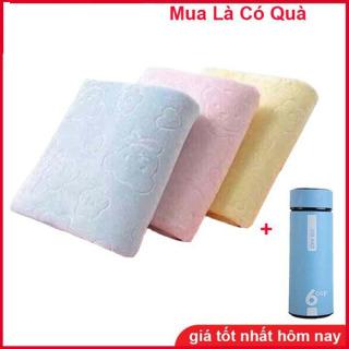 Combo 2 Khăn tắm xuất nhật tặng kèm bình giữ nhiệt 6oup thumbnail
