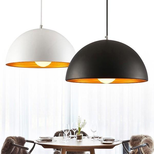 Đèn thả: Mẫu đèn thả hình mũ  trang trí phòng ăn