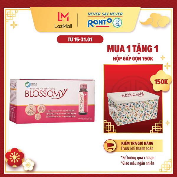 Thực phẩm bảo vệ sức khỏe giúp da sáng đẹp và dạ dày khỏe Blossomy hộp 10 chai x 50ml giá rẻ