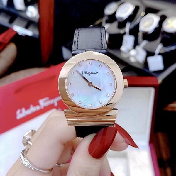 Nơi bán [MUA 1 TẶNG 1] Đồng hồ nữ dây da đồng hồ nữ SAVAT0RE FERAGAM0 SF1 size 34mm fullbox , đồng hồ nữ chống nước, đồng hồ nữ sang trọng