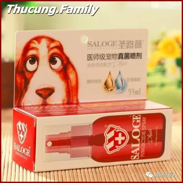 Thuốc xịt trị Nấm- ghẻ ở Chó. SALOGE FUNGICIDE SPRAY. 55ml