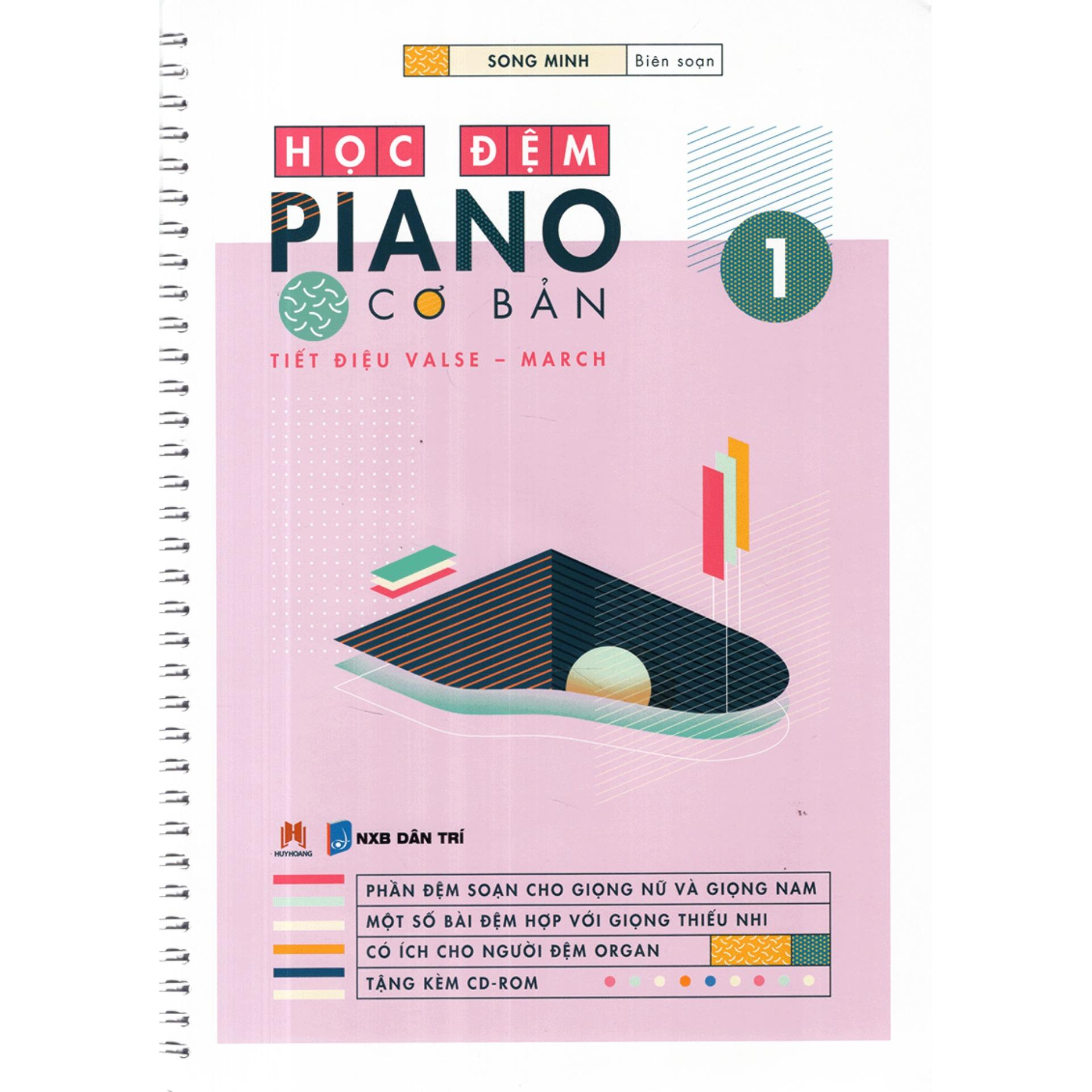 Mua Học Đệm Piano Cơ Bản - 3 Quyển (Kèm CD)