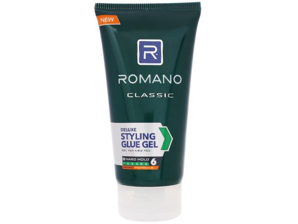 Gel vuốt tóc Romano Siêu Cứng 150g (tuýt số 6)