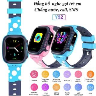 Đồng hồ định vị thông minh trẻ em JVJ Y92, đồng hồ chống nước, đồng hồ có camera, LBS Định Vị Trẻ Em, Sim Thẻ Gọi, Chống Mất, dành Cho Android IOS chống nước IP67, nghe gọi hai chiều, định vị chính xác thumbnail