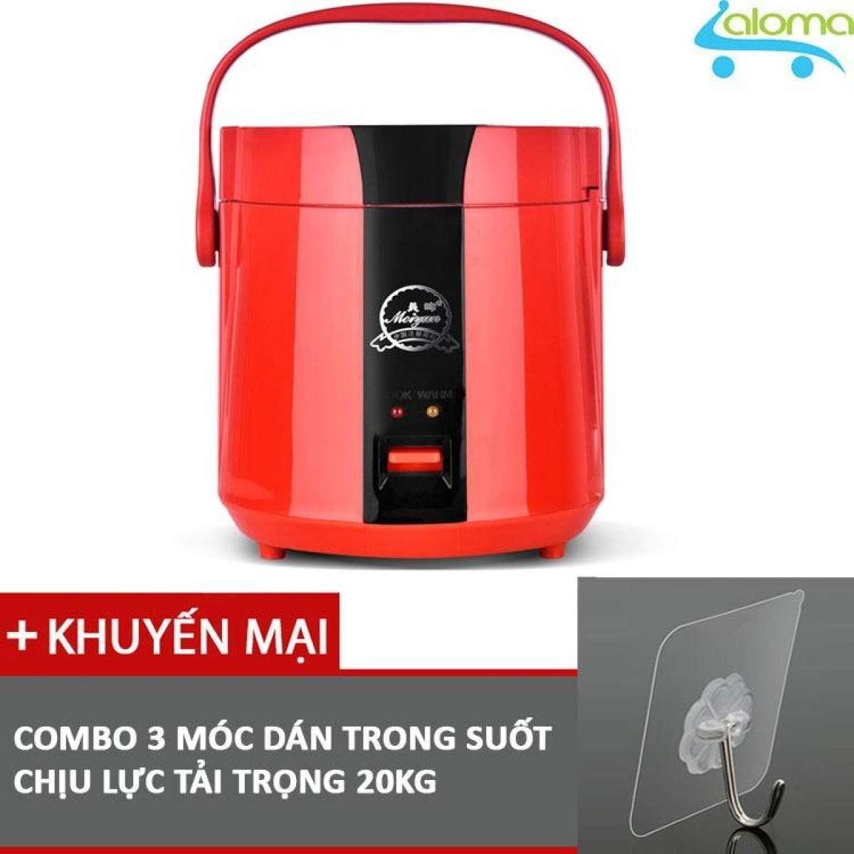 Nồi Cơm điện Mini 1.2L Meiyun B12-A Nấu Cơm Hâm Nóng Nấu Cháo Hầm Xương Kèm 3 Móc Dán Tường Với Giá Sốc