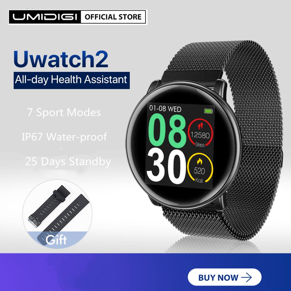 [Hot Sale]Đồng Hồ Thông Minh UMIDIGI Uwatch2 Theo Dõi Nhịp Tim 8 Chế độ Thể Thao Chống Thấm Nước Giá Cực Cool