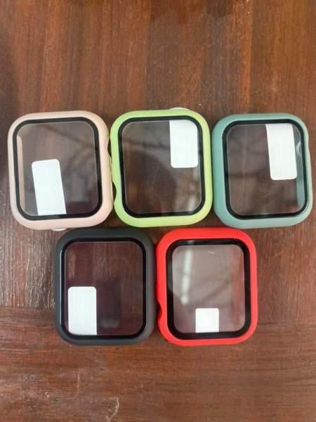 Ốp viền ốp mặt kính bảo vệ đồng hồ thông minh Apple Watch tặng kèm miếng dán PFF bảo vệ mặt kính - ốp viền