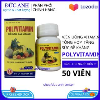 Viên uống vitamin tổng hợp POLYVITAMIN hộp 50 viên bồi bổ cơ thể, tăng cường sức đề kháng, giảm mệt mỏi suy nhược - Chai 50 viên dùng cho người từ 2 tuổi thumbnail