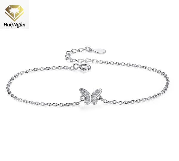 Lắc chân bạc Ý 925 Huệ Ngân - Hồ Điệp xinh xắn RYBJ50039