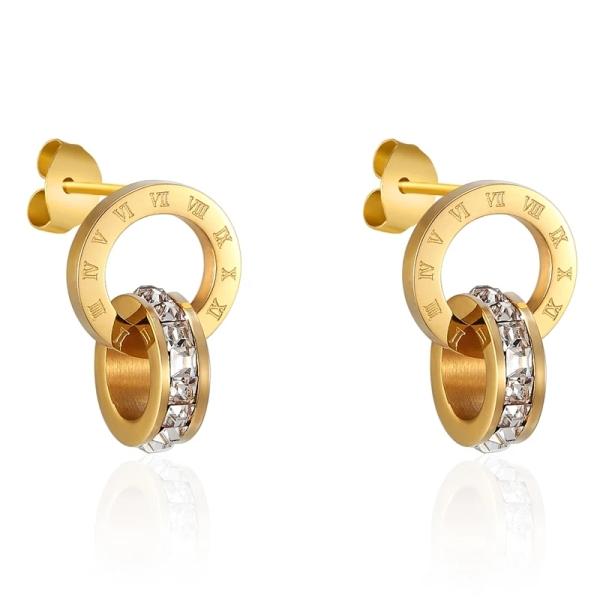 Bông tai nữ bông tai titan không han gỉ siêu bền màu - mẫu đính đá thời trang Bt01, thiết kế tinh xảo, sang trọng và thời thượng, phù hợp với mọi loại trang phục