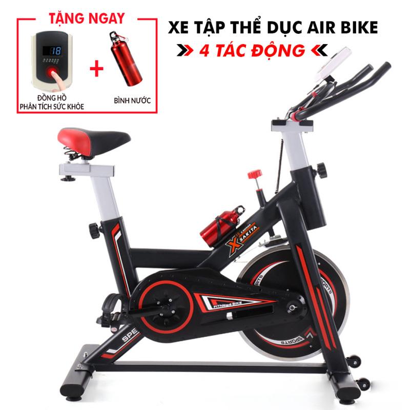 Xe đạp tập thể dục Air Bike 4 TÁC ĐỘNG - xe đạp tập thể thao trong phòng tập gym - Xe tập gym tác động toàn thân - xe tập thể dục trong nhà - LUX HOME