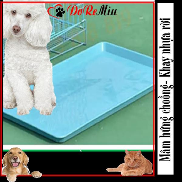 Doremiu- Khay vệ sinh thú cưng (Mâm SD75: Size: 74*44cm) Khay nhựa rời có thể làm mâm hứng chuồng chó mèo