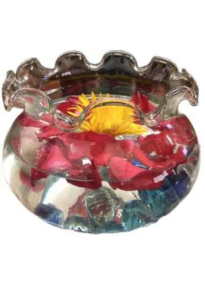 Bình thủy tinh nuôi cá để bàn, Hồ cá thủy tinh mini,Bình thủy tinh trồng cây thủy sinh,chậu cây cảnh thủy tinh mẫu  B11 (D17cm*H16cm)
