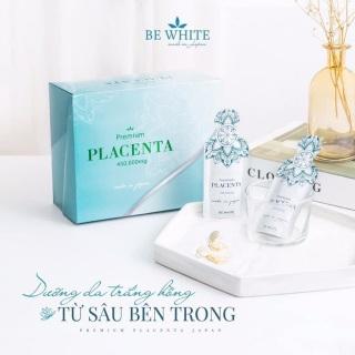 Nhau Thai Ngựa Đua Tổ Yến BeWhite Premium Placenta 450.000mg Nhật Bản thumbnail