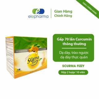 Viên sủi Scurma Fizzy New - Hỗ trợ Giảm Trào Ngược Dạ Dày, Hỗ Trợ Mau Lành Viêm Loét Dạ Dày - Hộp 20 viên thumbnail