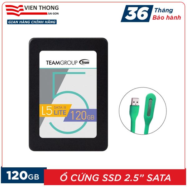 Giá Ổ cứng SSD L5 120GB Team Group LITE 2.5 Sata III (Bảo hành 3 năm đổi mới) tặng đèn LED cổng USB - Hãng phân phối chính thức