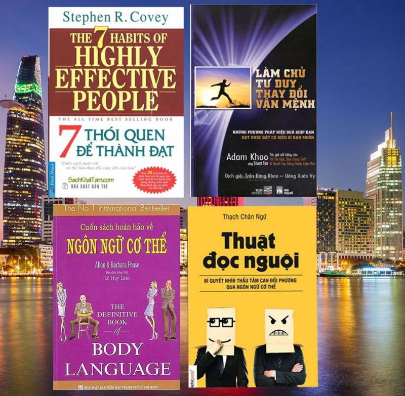 Mua Combo 4 cuốn sách kinh doanh tặng kèm móc khóa hoặc vòng tay hoặc sổ tay - Thuật đọc nguội, Ngôn ngữ cơ thể, Làm chủ tư duy thay đổi vận mệnh, 7 thói quen để thành đạt - Book Plus