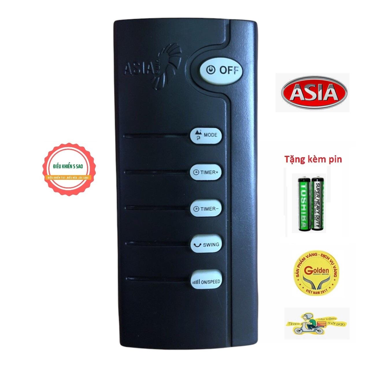 Điều khiển quạt ASIA màu đen chính hãng - tặng kèm pin - Remote ASIA - Remote quạt ASIA chính hãng nhà máy sản xuất -Có bảo hành
