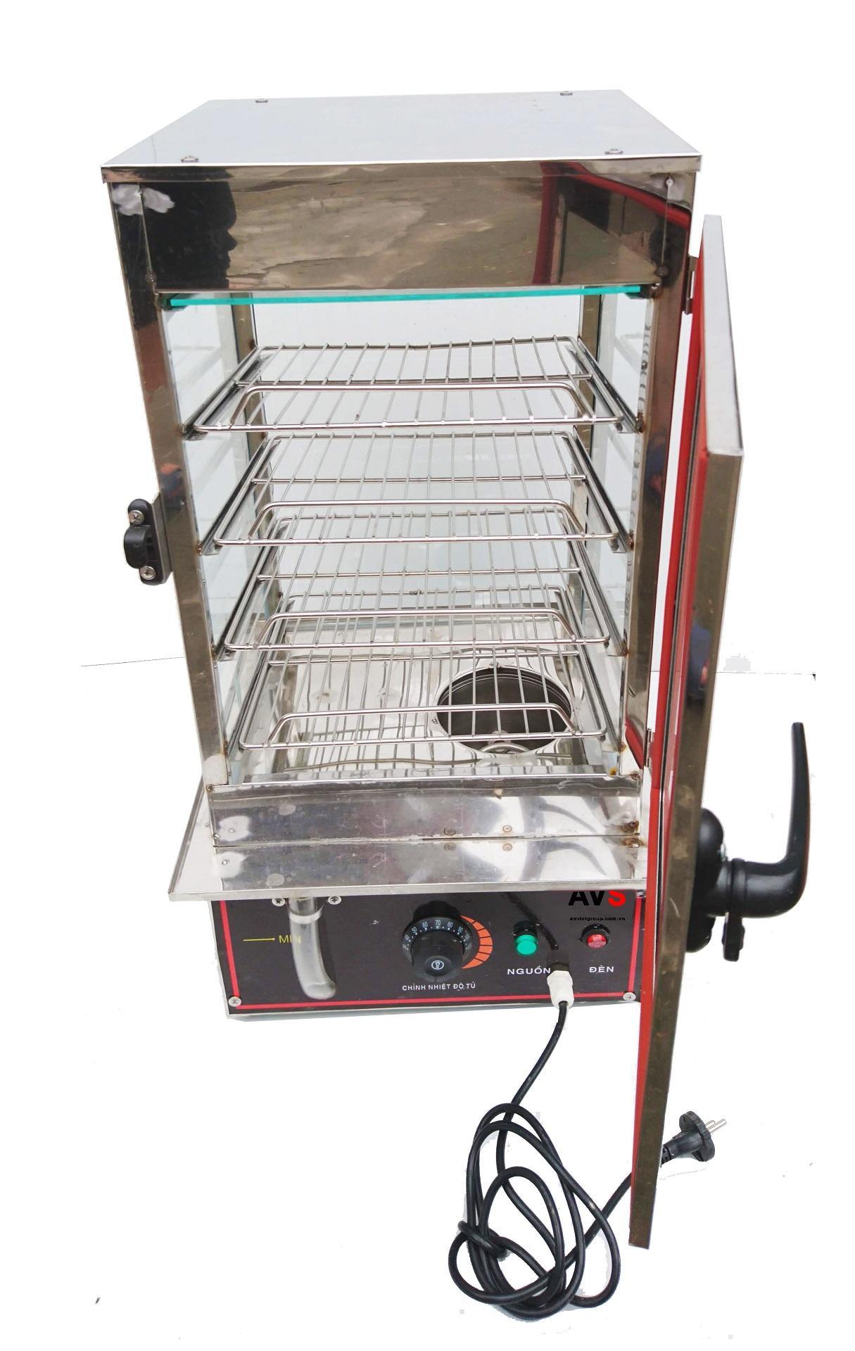 Tủ trưng bày hấp nóng bánh bao BB4 An Việt