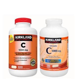 Viên Uống Kirkland Signature Vitamin C 1000mg 500 viên, Chiết xuất từ trái cam tươi của ÚC - Tăng Cường Hệ Miễn Dịch, Sức Đề Kháng, Sáng Da, Chống Lão Hóa, Phòng Cảm Cúm thumbnail