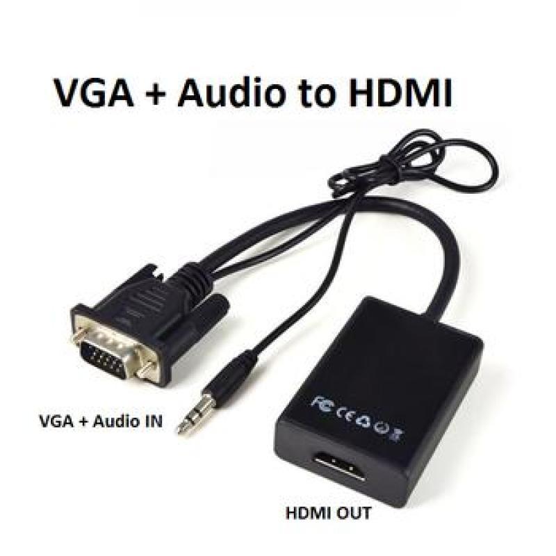 Bảng giá cáp chuyển đổi VGA sang HDMI Có Audio - Hàng chất lượng - VGA TO HDMI Phong Vũ