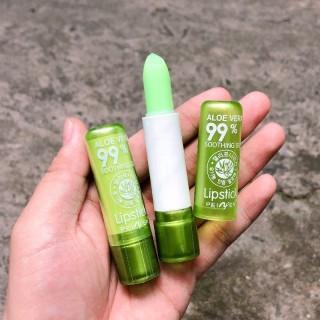 Son Dưỡng NHA ĐAM 99% Alove Vera lipbalm lipstick lâu trôi mềm mịn căng bóng dưỡng môi sỉ rẻ thumbnail