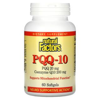 PQQ 20mg và CoQ10 200mg, Natural Factors, PQQ-10, PQQ 20 mg, CoQ10 200 mg, 60 Softgels thumbnail