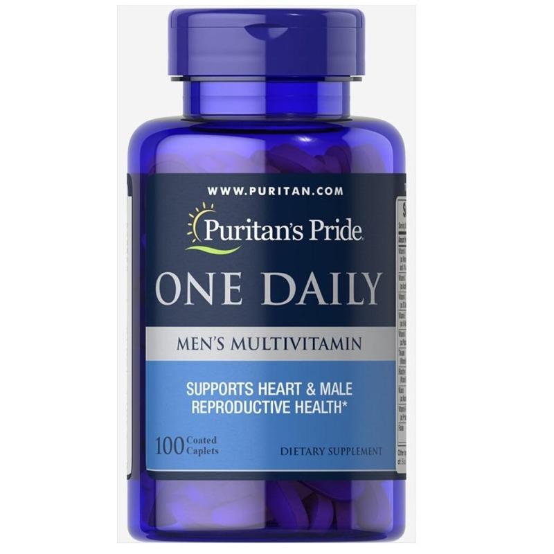 Tăng cường sức khỏe cho nam giới Vitamin và khoáng chất cho nam giới Puritans Pride One Daily Mens Multivitamin 100 viên HSD 30/3/2022