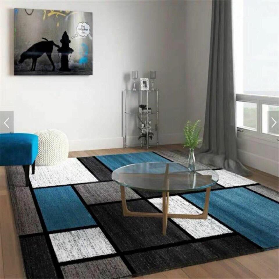 Thảm trải sàn phòng khách BALI sang trọng loại to KT 2m x 3m (họa tiết kẻ sọc caro lạ mắt) - 1