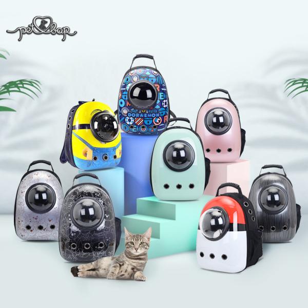 Balo Phi hành gia cho chó mèo - balo chó mèo nhiều màu sắc, chất liệu nhựa cao cấp PVC Khử mùi thoáng khí