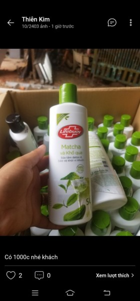 Sữa tắm Detox Lifebuoy - Matcha & Khổ Qua