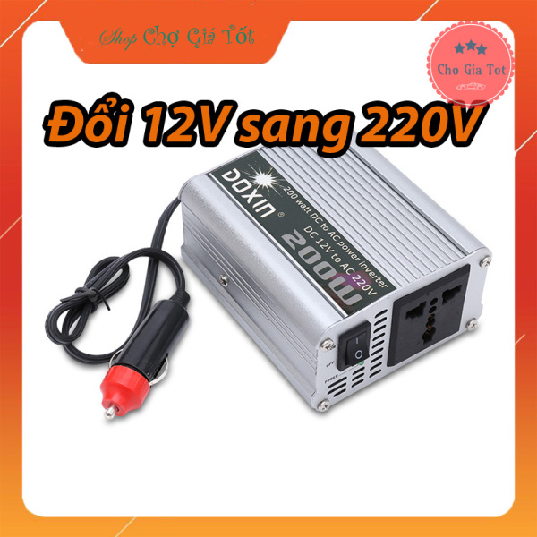 Bộ chuyển đổi nguồn 12V sang 220V trên ô tô công suất 200W