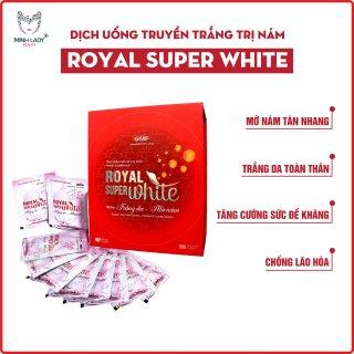 [MUA 3 TẶNG 2 ĐƯỢC 5H] Dịch uống truyền trắng Royal Super White MINH LADY BEAUTY hỗ trợ mờ nám tàn nhang công nghệ Hoa Kỳ hiệu quả sau 20 ngày thumbnail