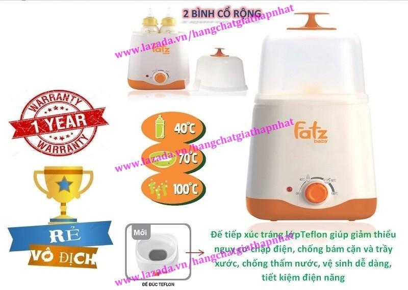 Máy hâm sữa và tiệt trùng 02 bình cổ rộng...