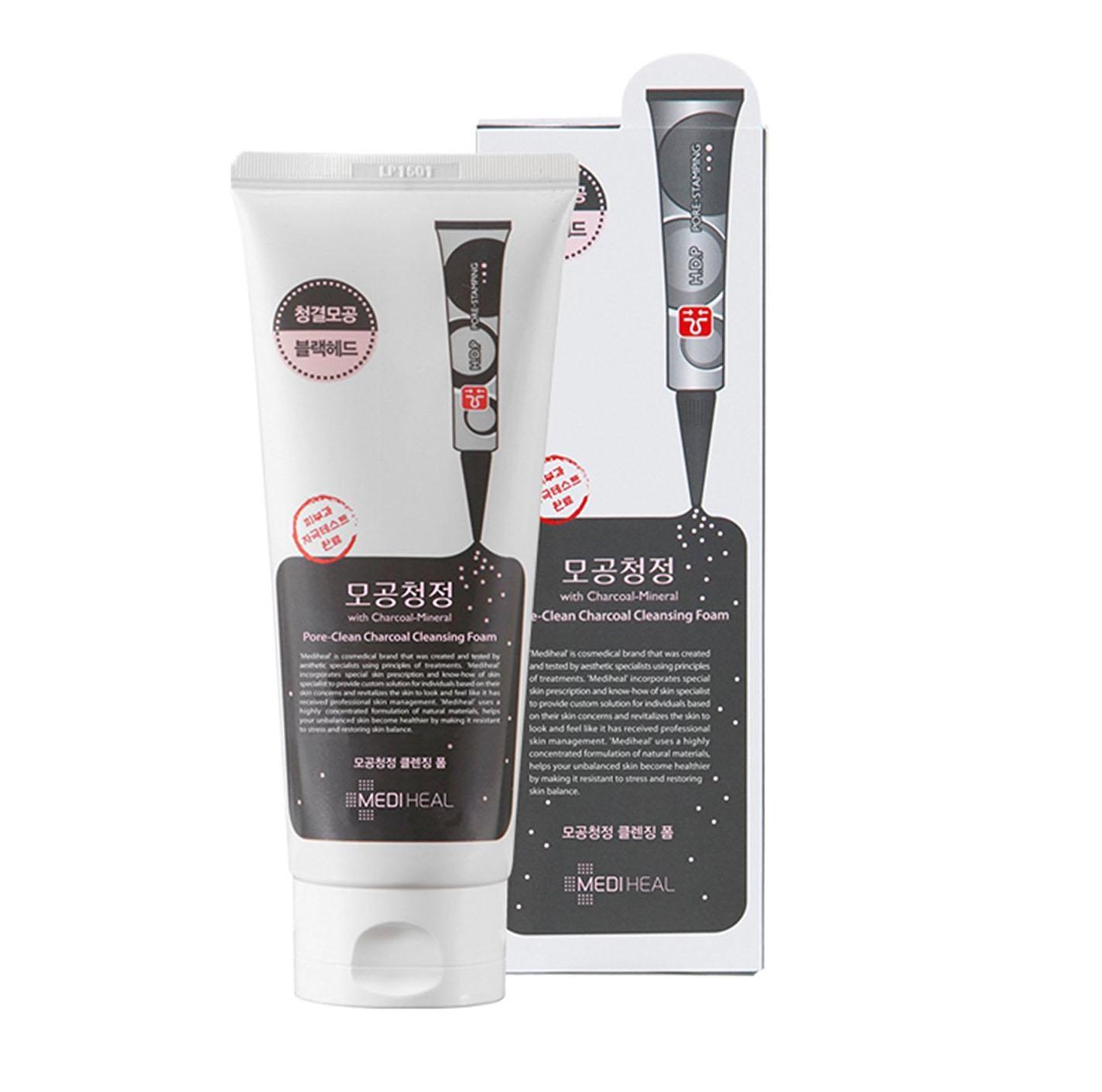 Sữa rửa mặt than hoạt tính làm sạch sâu lỗ chân lông Mediheal Pore-Clean Charcoal Cleansing Foam 170ml tốt nhất
