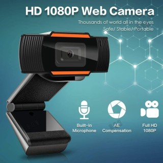 Manual 1080P HD Webcam Web Camera With MIC MICROPHONE For Computer For PC Laptop Skype MSN thumbnail
