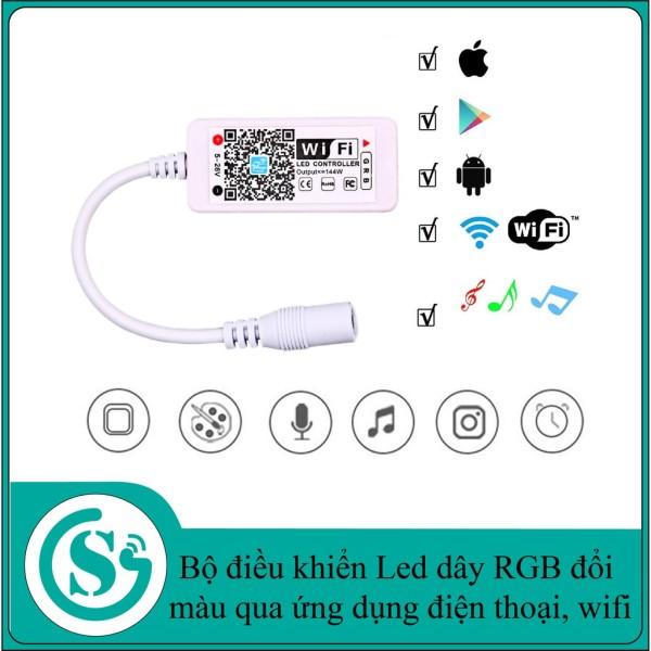 Bảng giá Bộ điều khiển Led dây RGB đổi màu qua ứng dụng điện thoại, wifi