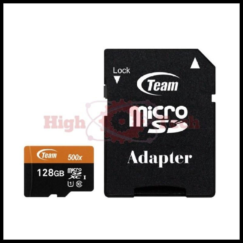 Thẻ nhớ microSDXC Team 128GB 500x upto 80MB-s C10 UHS-I kèm Adapter (Cam) tặng đèn LED