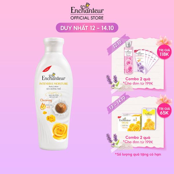 Sữa Dưỡng Thể Dưỡng Ẩm Chuyên Sâu Enchanteur Charming Intensive Moisture Shea Butter 200gr nhập khẩu