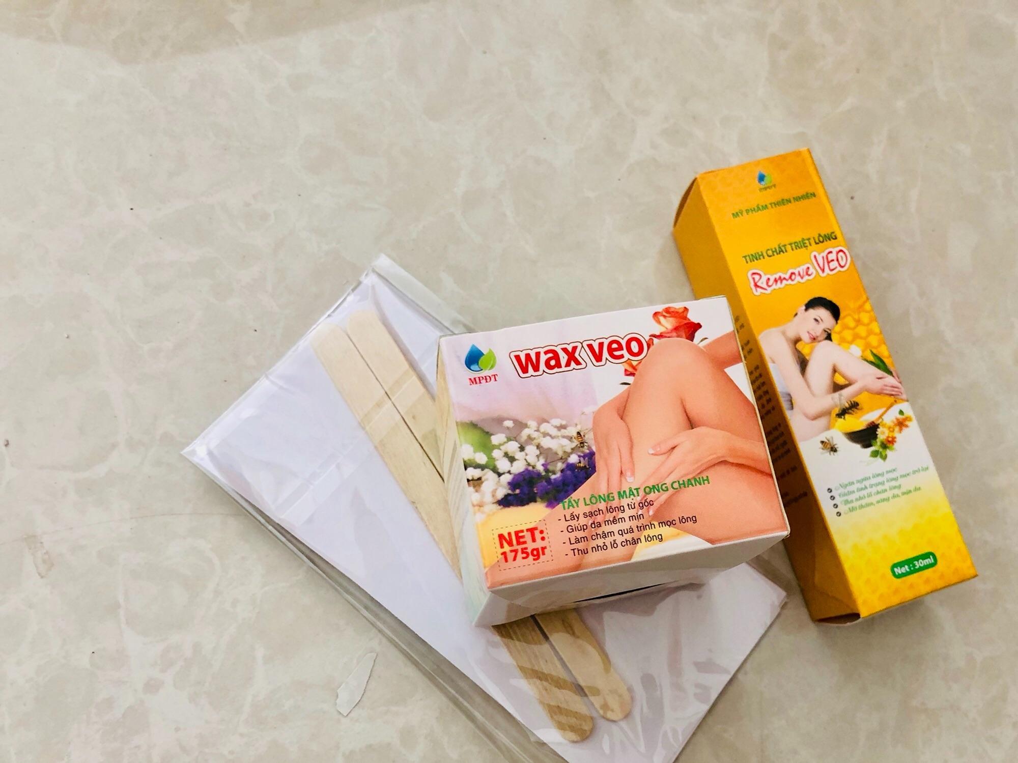 Combo wax veo và tinh chất triệt tại nhà